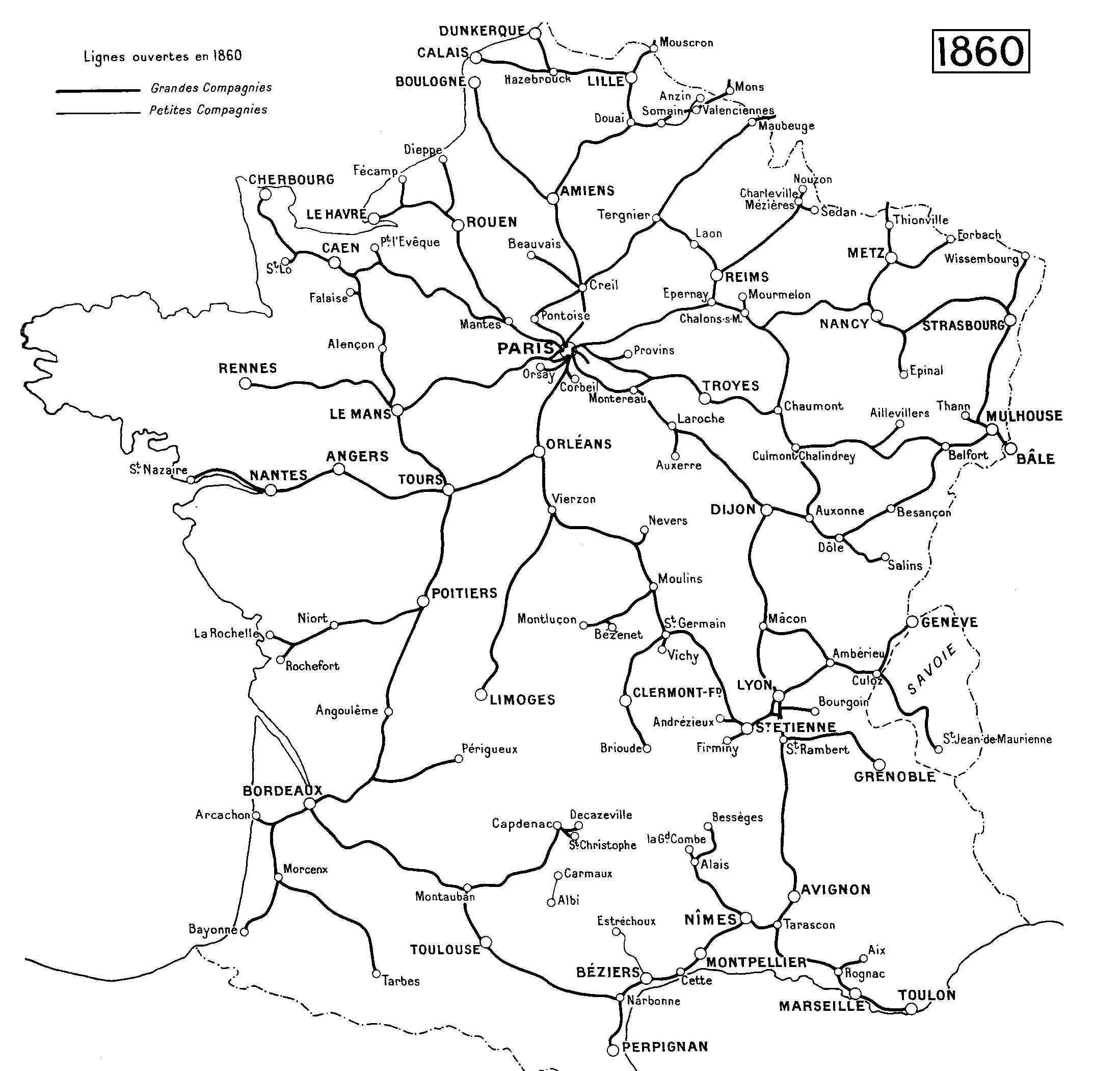Carte France 1850 France 1850 un Envoi de